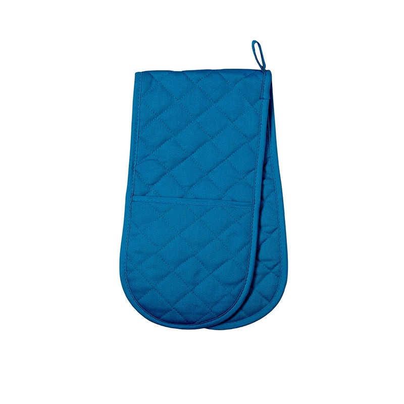 Double Oven Glove Love Colour Moroccan Blue Dexam