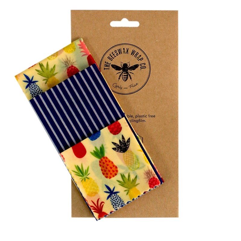 Beeswax Wraps Medium Kitchen Pack/3 Multicoloured