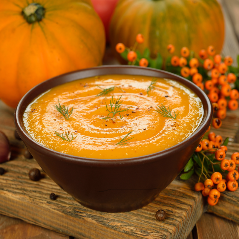 Halloween Recipes - Quinoa Black Bean Pumpkin Soup