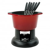 Chasseur Cast Iron Fondue Set - Chilli Red