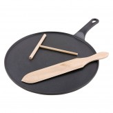 Buy the Chasseur Crepe and Pancake Pan with Cooking Utensils at Dexam