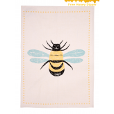 Bees Knees Set Of 2 Tea Towels, Yellow