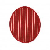 Butcher's Stripe Hob Cover - Red