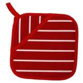 Buy the Rushbrookes Pot Grab Oven Glove in Butcher's Stripe Design - Red - Dexam