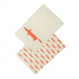 Set of 2 Tea Towels - Stone Mr Fox