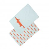 Set of 2 Tea Towels - Blue Mr Fox