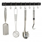 Hahn Metro Chrome Wall Utensil Rail 51cm Dexam