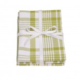 Dexam Greenery green cotton large jumbo tea towels set of 3