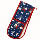 Dexam Bloom Double Oven Glove Indigo