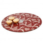 Yuletide Glass Lazy Susan Dexam