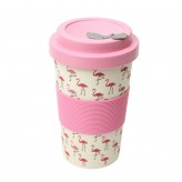 BamBroo Drinks Mug 400ml - Flamingo