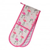 Flamingo Double Oven Glove Pink Dexam
