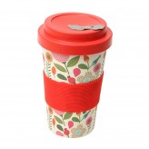 BamBroo Drinks Mug 400ml - Patchwork Flower