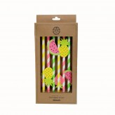 Dexam Summer Garden Fruit Topper Straws - Pack of 12