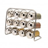 Pisa Premium Spice Rack with 12 Glass Jars