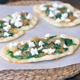 Goat Cheese and Onion Marmalade Flatbread Canapes
