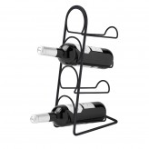 Hahn Pisa 4 Bottle Wine Rack - Black Satin