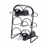 Hahn Pisa Wine Rack 6 Bottle - Satin Black