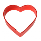 Heart Decorating Cutter, 7cm – Red