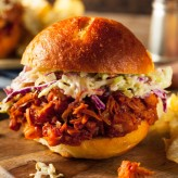 Pulled BBQ Jackfruit Vegetarian Burger