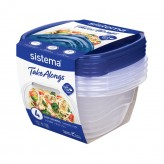 Sistema TakeAlongs Medium Deep Square 1.2L, Pack of 4