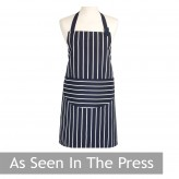 butchers stripe apron navy dexam as seen in the press