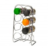 Hahn Pisa Chrome 8 jar spice rack