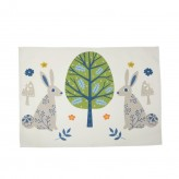 Woodland Rabbits Tea Towel