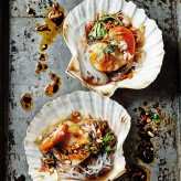 Steamed Scallops with Garlic and Vermicelli