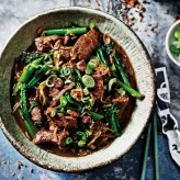 Flash fried Venison and Broccoli with Ginger and Spring Onion