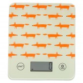 Playful Mr Fox kitchen scales in a stone colour