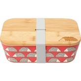 Scion Spike Rectangular Bamboo Lunchbox Red