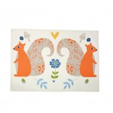 Woodland Squirrels Tea Towel