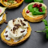 sweet potato toast with banana and yogurt