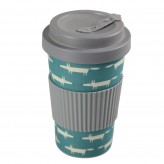 Scion Living Bamboo Mr Fox Drinks Mug - Teal Blue