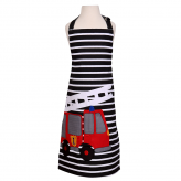 Fire Engine Kids Cotton Apron- Striped