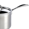Handle detail of the Dexam Supreme Stainless Steel Saucepan, 22cm, 4.5L