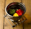 Dexam Stainless Steel Footed Colander 26cms