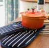 Chasseur Cast Iron 18cm Casserole & Oven Gloves - Flame Orange lifestyle