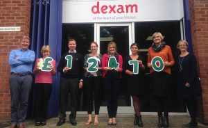 Dexam raises over £12,000 for people living with cancer