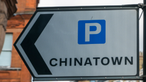sign to China town