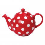 globe spotty red ultimate teapot