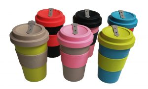 Colourful Reusable Travel Mugs